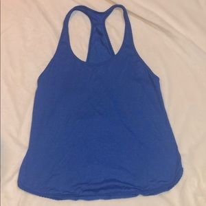 Blue Lululemon tank top